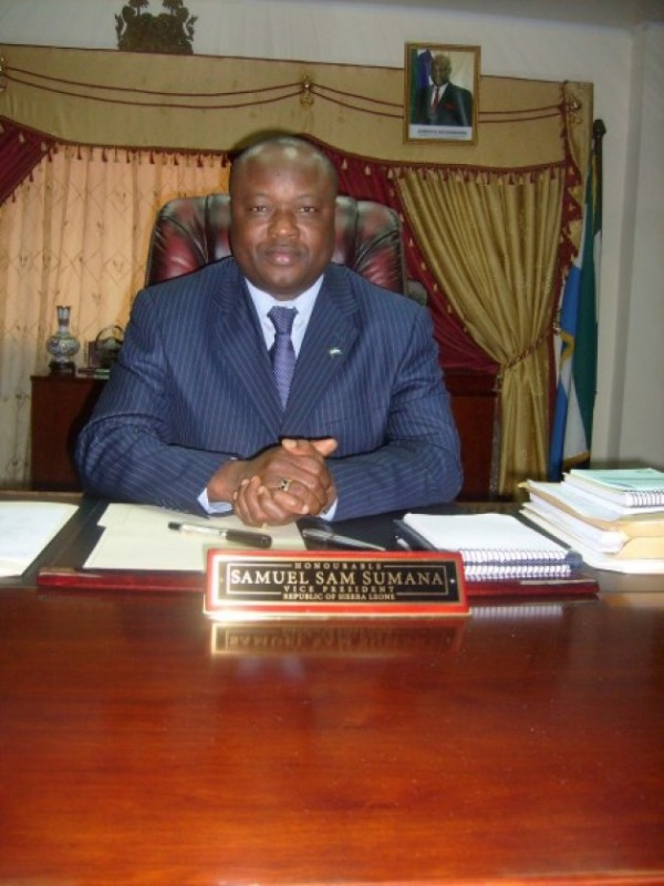 VP Samuel Sam-Sumana. Photo: The AfricaPaper file
