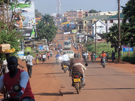 The hustle and bustle in Gulu town. The buzz around the town has energised the demand for a city status by local leaders and residents.