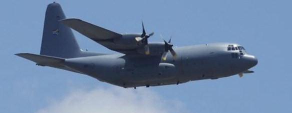 C-130 Hercules carrying late Mandela took off at 11.58am