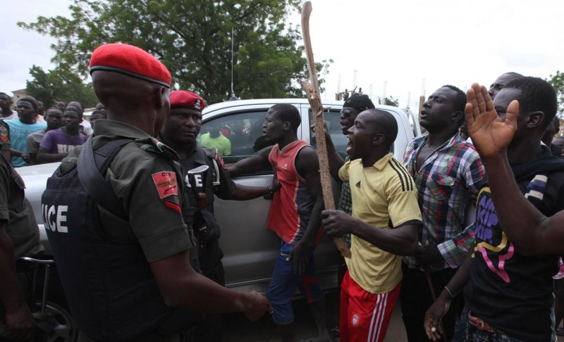 Law of the land: Nigerian police confront a vigilante group in Maiduguri