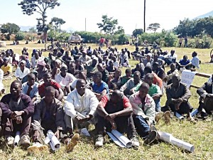 Some community members attending a federalism awareness  meeting. Photo: Henry Mhango/The AfricaPaper
