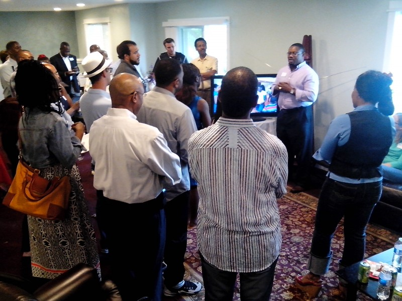 YES invitees listen keenly to opening remarks by director Stephen Wreh-Wilson. Phot: THe AfricaPaper/James Fasuekoi