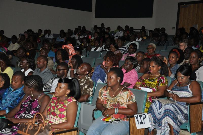 Spectators at the Ambassador's performance. Photo: Issa Mansaray/The AfricaPaper.