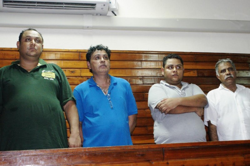 From left - Two sons of former international drug trafficker, Ibrahim Akash, and two other foreigners facing drug trafficking cHarges in the Mombasa High Court. Photo: The AfricaPaper/Harrison Mbungu.