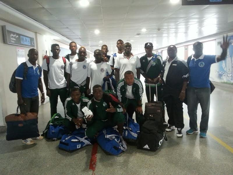 Sierra Leone team at the airport getting ready for departure. Photo: The AfricaPaper/ Abubakarr Kamara