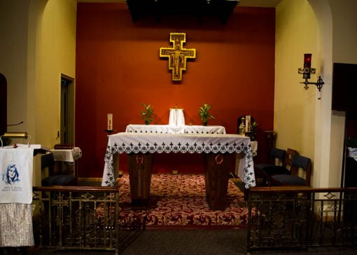The altar in the convent's chapel. Photo:Benjamin Parkin