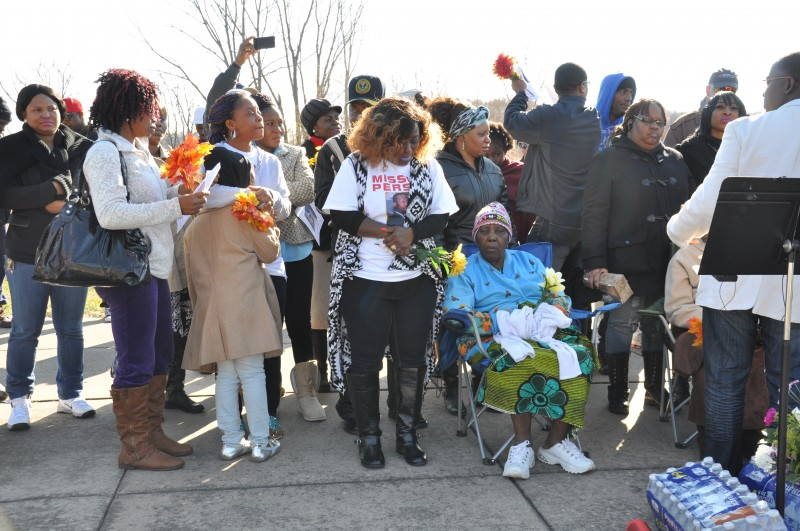 Family members and friends at the vigil. Photo: The AfricaPaper/Issa A. Mansaray