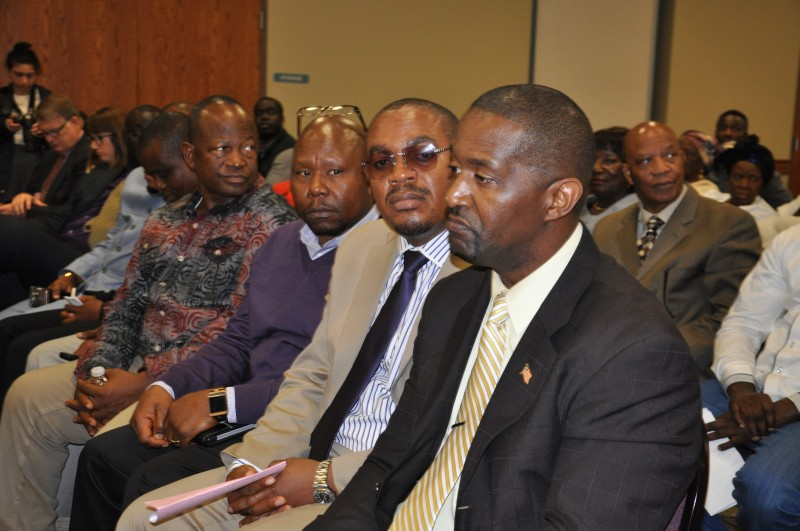 From right, Liberia's acting consul general in Minnesota Hon. Jackson George. Photo: The AfricaPaper/Issa A. Mansaray