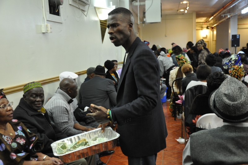Collecting donation in Staten Island, New York. Photo: The AfricaPaper/Issa A. Mansaray