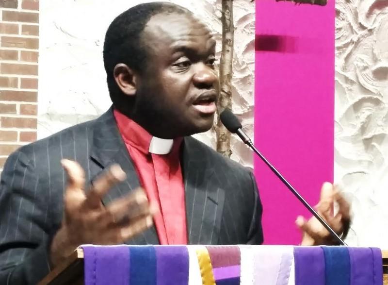 Pastor Alex Collins, family pastor. No relation to Pierre Collins. Photo: The AfricaPaper/James Fasuekoi