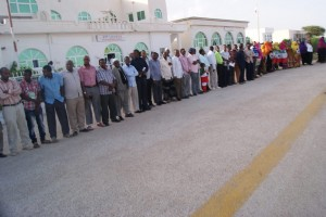 Somalilanders waited to welcome  for Prof. Samatar