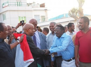Dr. Samatar among his people in Somaliland