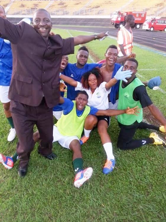 Jubilant Sierra Leonean  team. Photo - Abubakarr Bundu - The AfricaPaper