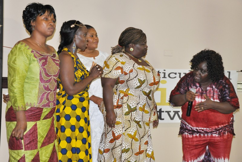 Minnesota LNCA Chapter members perform at the GFF's CI and TAP BBQ. Photo: The AfricaPaper/Issa Mansaray