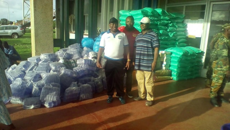 Donation from the Sierra Leone Football Association (SLFA). Photo: Abubakarr Kamara/The AfricaPaper. (c) Freetown, 2015