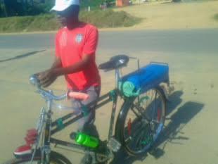Joseph Lalinga, one of many taxi-bicycle operators. Photo: Henry K. Mhango/The AfricaPaper