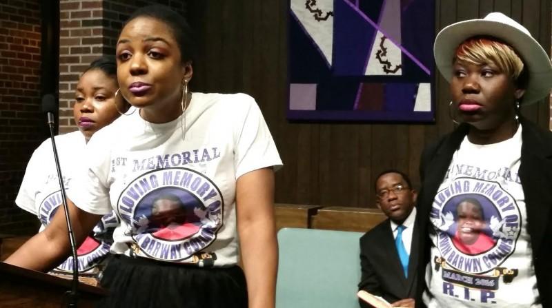 Victoria Zulu speaks on behalf of Nimba Community in US. Photo: The AfricaPaper/James Fasuekoi
