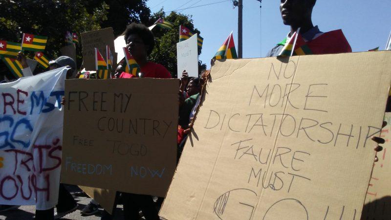 Togolese protest in St. Paul, Minnesota. Photo: The AfricaPaper/James K. Fasuekoi