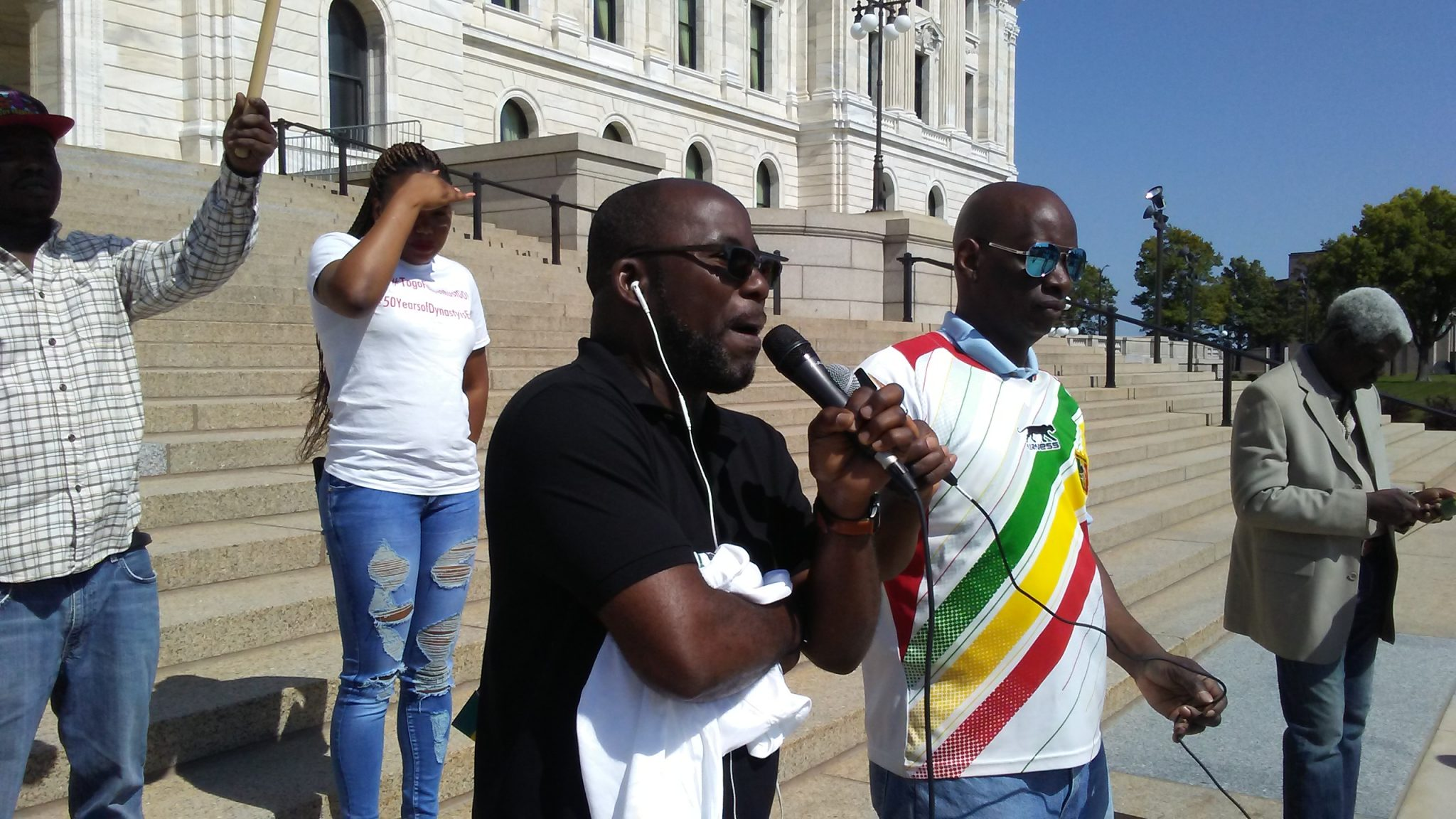 Togolese protest in St. Paul, Minnesota. Photo: The AfricaPaper/James K. Fasukoi
