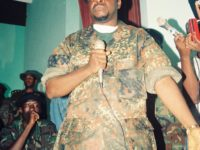 """General"" Alhaji Kromah, leader of mainstream ULIMO. Photo: (c) The AfricaPaper/James Fasuekoi"