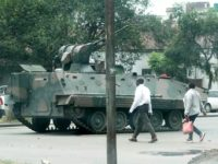 Military tanks in Harare, Zimbabwe. Photo: Henry K. Mhango/The AfricaPaper