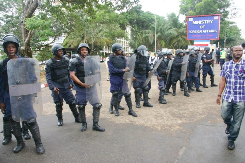 Police in Riot Gears. Photo: James Fasuekoi /The AfricaPaper