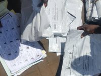Ballots count. Photo: Abubakarr Kamara/The AfricaPaper