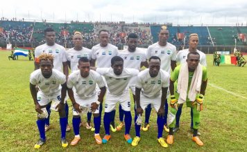 Leone Star team. Photo: Abubakarr Kamara /The AfricaPaper