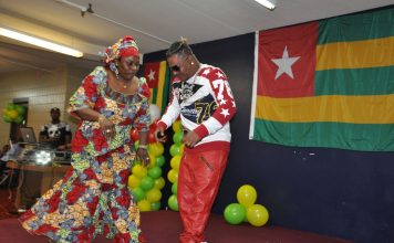Ali-Jezz celebrates. Photo: Issa Mansaray/The AfricaPaper