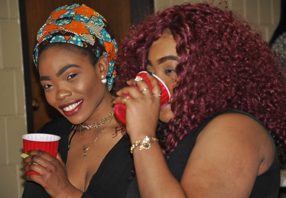 Enjoying the Togolese party. Photo: Issa Mansaray/The AfricaPaper