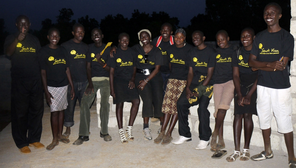 Dr. Auma Obama with some of Sauti Kuu Foundation beneficiaries. Photo: Henry Owino/The AfricaPaper