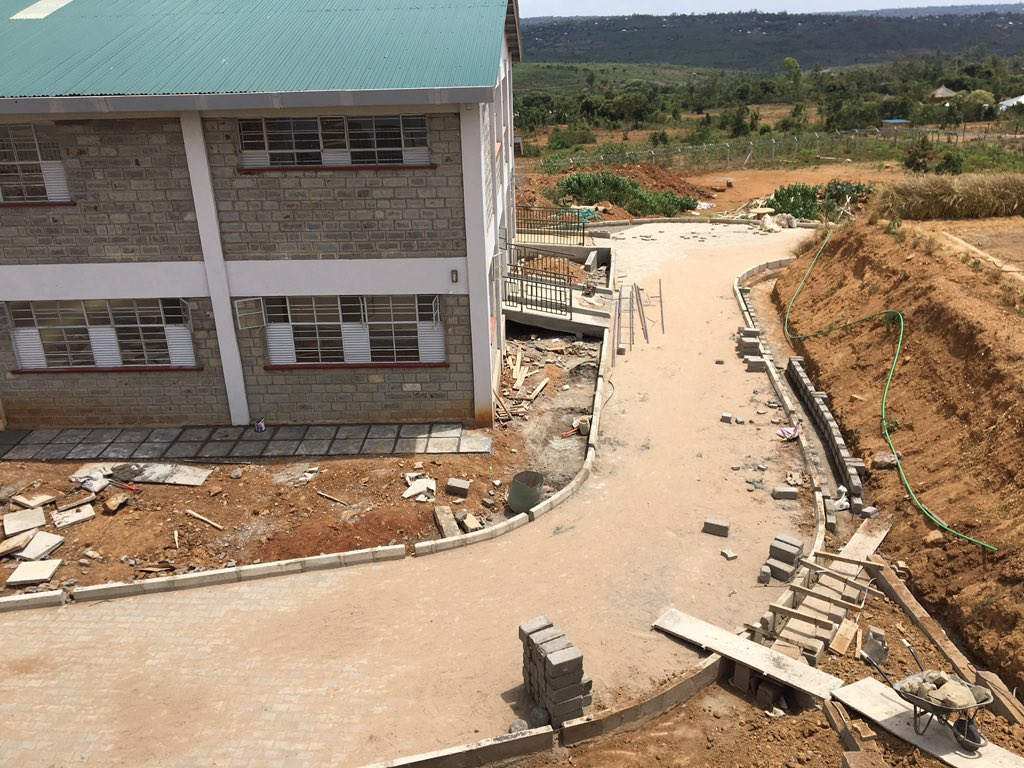 Sauti Kuu Foundation construction projects coming up in K'Ogelo, Siaya. Photo: Henry Owino/The AfricaPaper