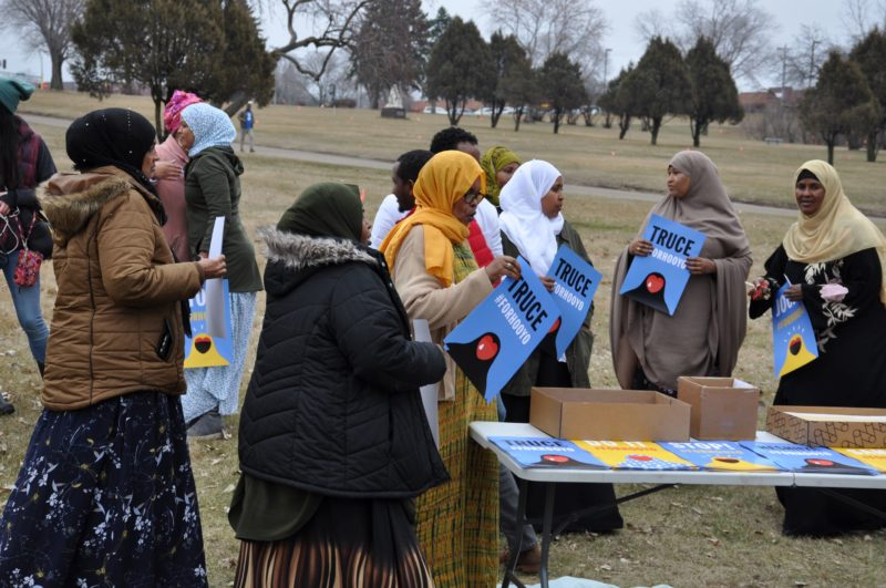 """For Hooyoo"" campaign in Burnsville. Photo: (c) Issa Mansaray/ The AfricaPaper"
