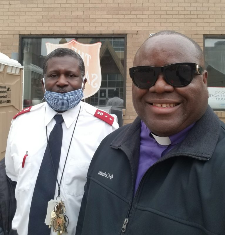 Capt. Leo Brooks and Bishop Harding Smith at The Salvation Army, MN