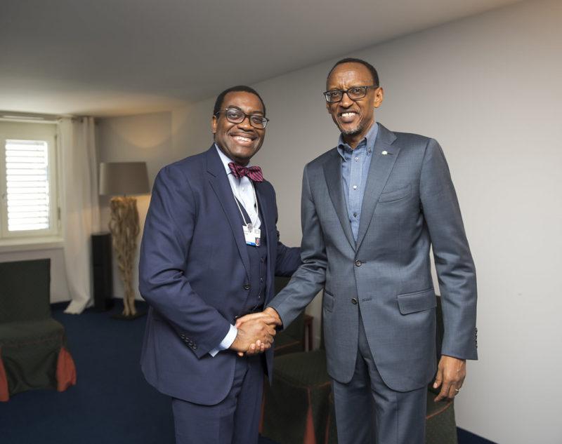 Adesina and President Paul Kagame of Rwanda. Photo: Rwanda